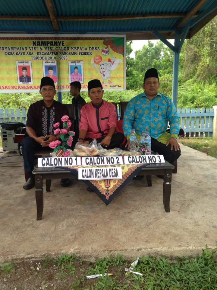 Kampanye Terbuka Pilkades Desa Kayu Ara