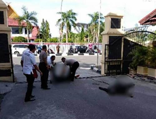 Terduga Teroris yang Serang Mapolda Riau Terkapar Ditembak Polisi