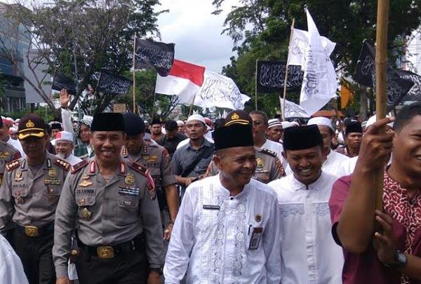 Aksi Bela Islam di Pekanbaru Berjalan Damai