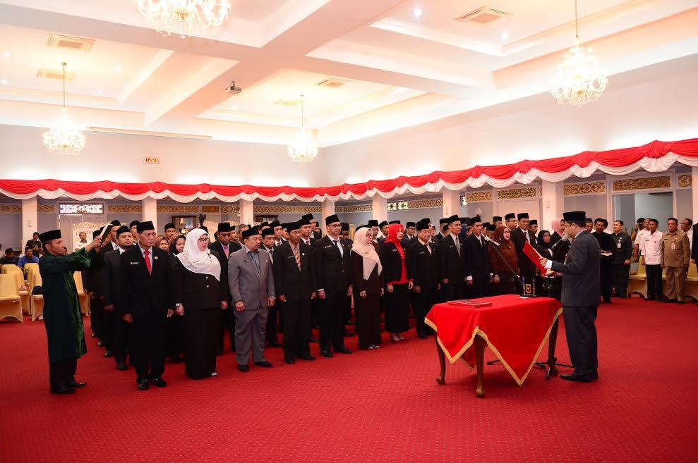 Sekda Prov Riau Lantik Pejabat Eselon III dan Eselon IV