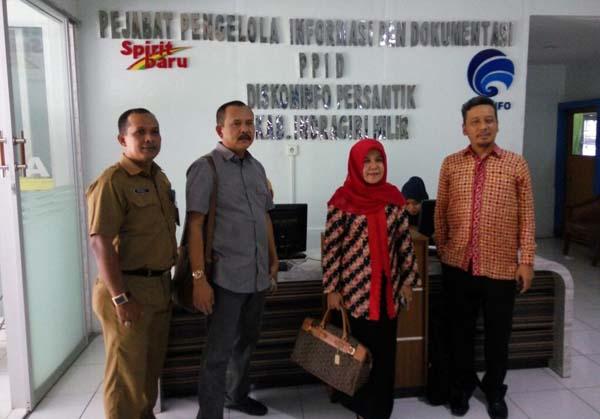 *KIP Riau Monev Pelayanan Keterbukaan Informasi Di Diskominfo Inhil*
