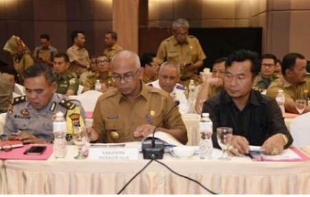 Pj Bupati Inhil Ikut Rakor dengan Bupati/Walikota se-Riau