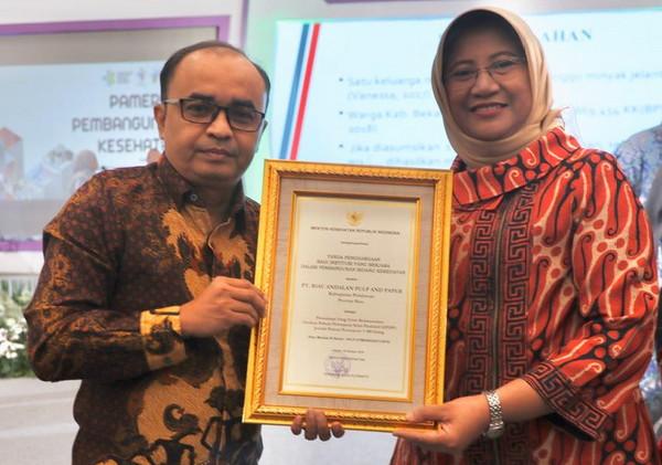 Kemenkes RI Beri Penghargaan GP2SP kepada PT RAPP