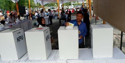 KPU Gelar Simulasi Rekapitulasi Hasil Pemilu dan Pilpres 2019 Tingkat Provinsi
