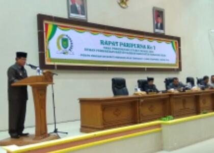 Bupati Inhil Sampaikan Pidato Pengantar Terhadap 5 Ranperda Tahun 2018