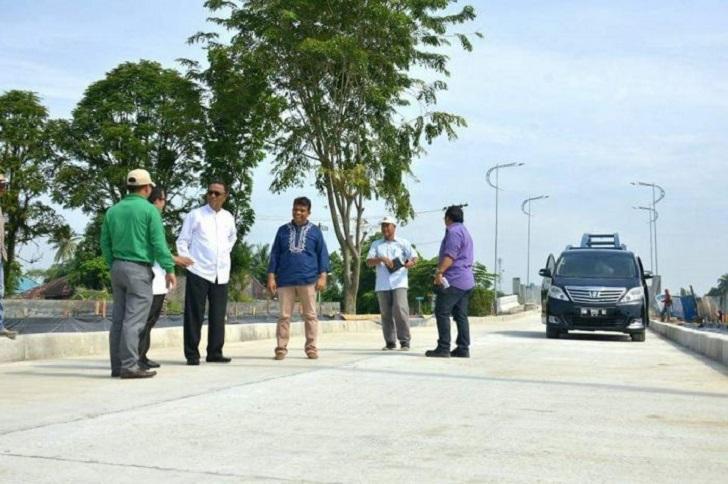 Bupati Kampar Azis Zainal Tinjau lokasi Water Front City