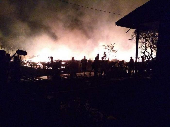 Perumahan Karyawan PT Pulau Sambu Kateman Ludes Terbakar