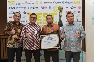 Bank Riau Kepri Raih 2 Penghargaan DataGovAi Award 2018