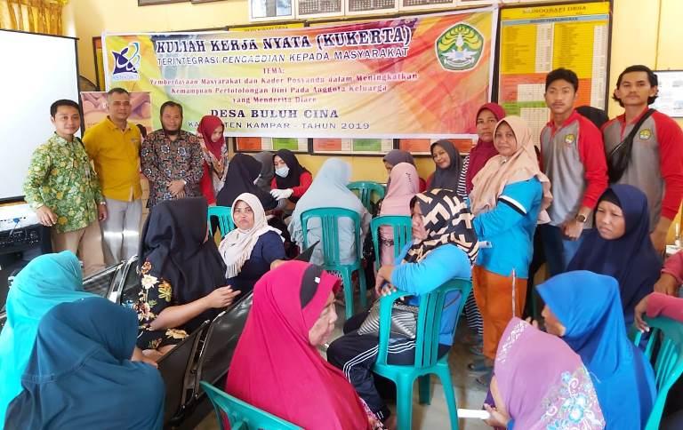 Warga dan Kader Kesehatan BuluhCina, Diedukasi Pentingnya Antisipasi Dini Pasien Diare