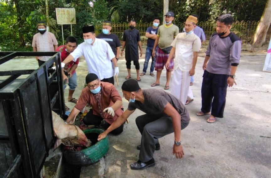 Idul Adha, Unilak Potong Tiga Sapi dan Tiga Kambing