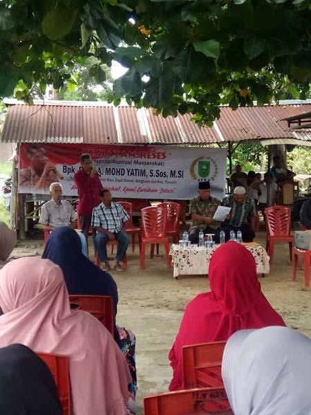 Warga Air Jamban Bangga, Perdana Anggota DPRD Riau Berkunjung Reses