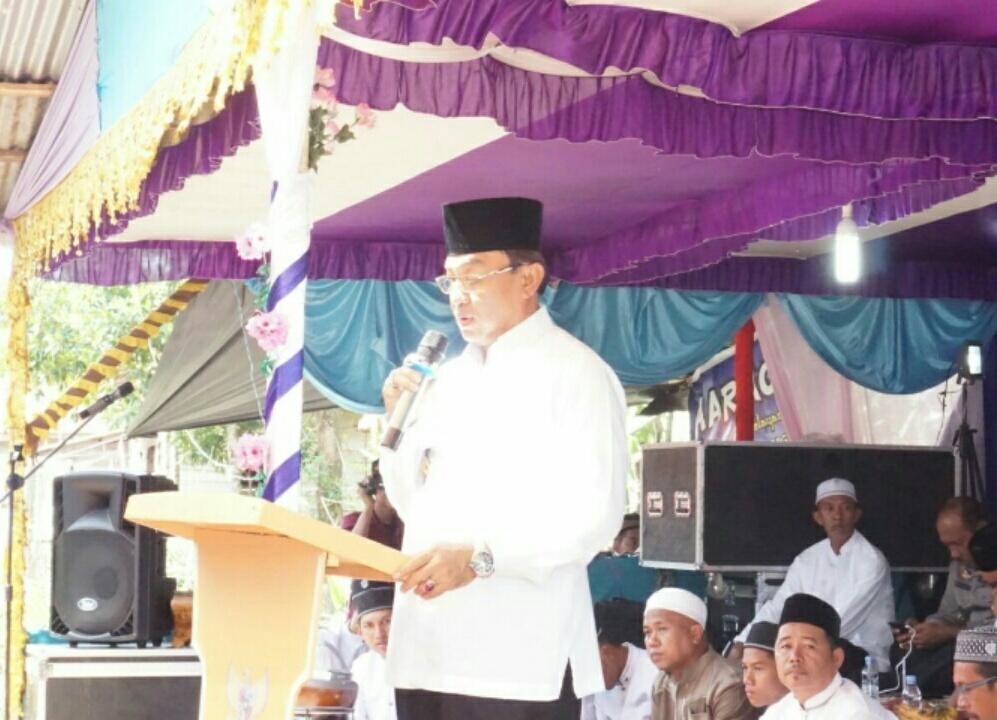 Bupati Inhil Hadiri Haul Sultani Aulia Syekh Abdul Qadir Al - Jaelani, Desa Sungai Ambat, Enok