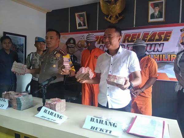 Polisi Ringkus 3 Pelaku Pembobol Berangkas BRI di Inhil