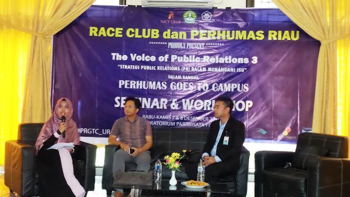 Perhumas Riau Berbagi Strategi PR ke Mahasiswa UR