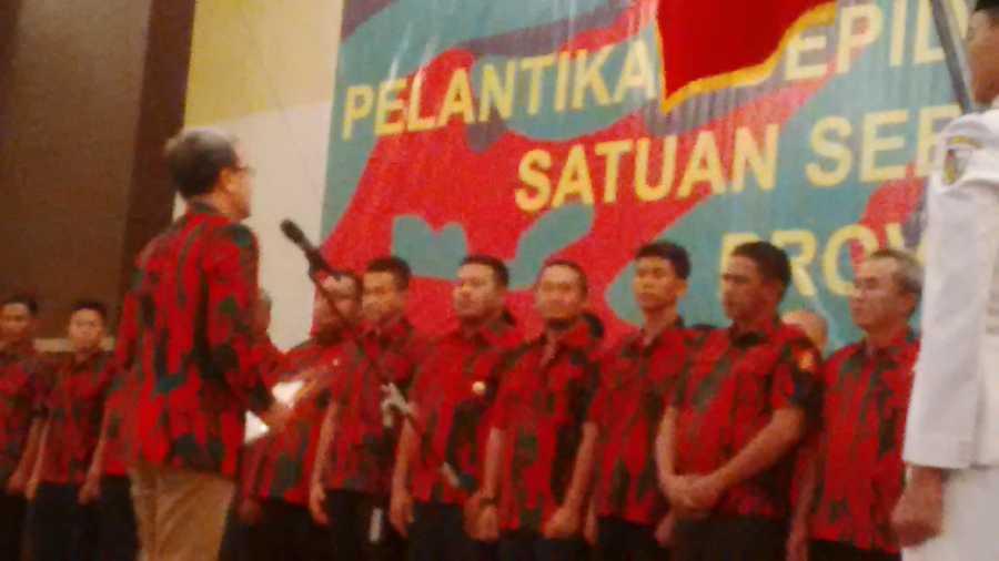 Pengukuhan Depidar Baladhika Karya Riau Periode 2017-2022