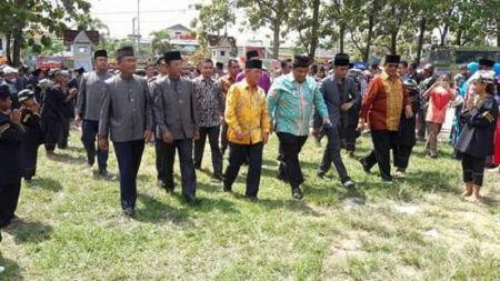 Bupati HM Harris Hadiri Pelantikan Pengurus Baru Paguyuban PKDP Pelalawan