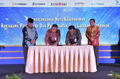 Kerjasama Layanan Perbankan, Bank Riau Kepri MoU dengan BRI