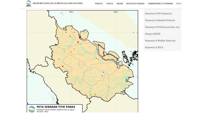 Sebanyak 10 Titik Panas Terdeteksi di Wilayah Riau
