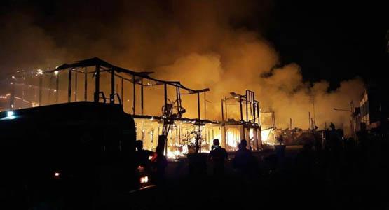 70-an Ruko di Kawasan Pecinan Siak Terbakar