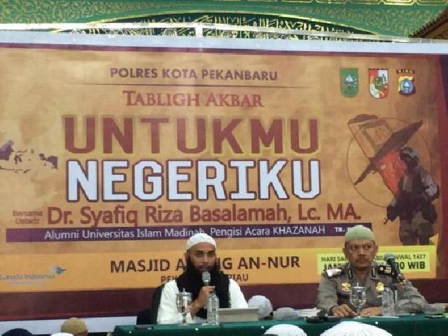 Ustadz Syafiq Riza Basalamah IKembali si Tausiah di Kota Bertuah