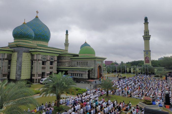 Masjid Raya Annur Pekanbaru Gelar Salat Idul Adha