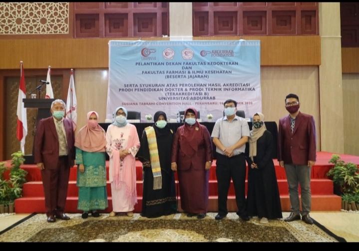 Prodi Kedokteran dan Prodi Teknik Informatika Universitas Abdurrab Raih Akreditasi B