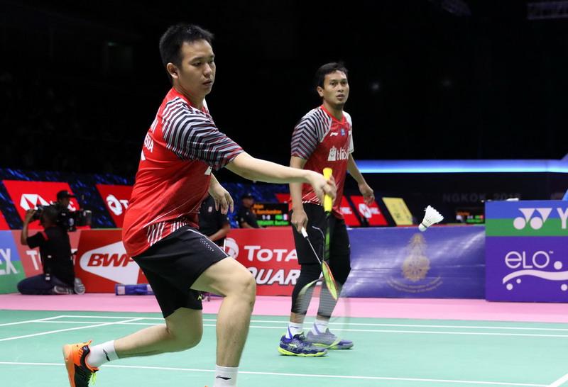 Fokus Sejak Awal Laga Jadi Kunci Ahsan/Hendra Melaju ke Semifinal Singapura Open 2018