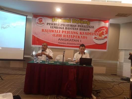 H.Rahman Berbagi Cerita Sukses Pendirian LBH Rajapekad