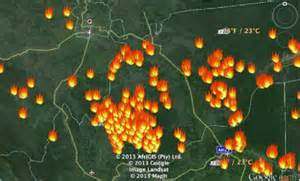 Lima Titik Panas Terdeteksi di Riau