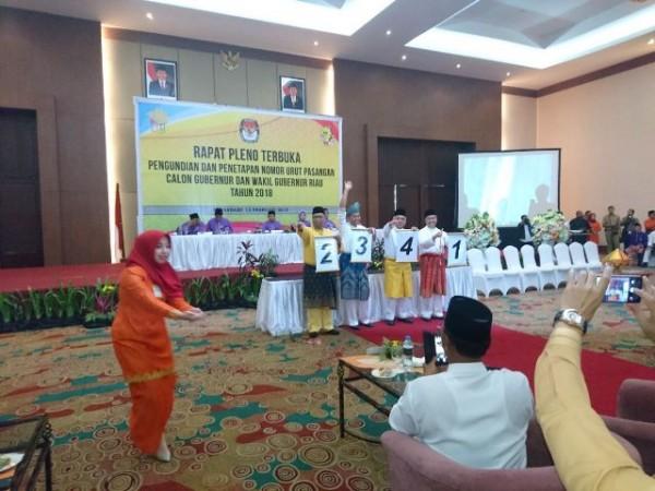 Nomor Urut Calon Gubernur Riau 2019-2024