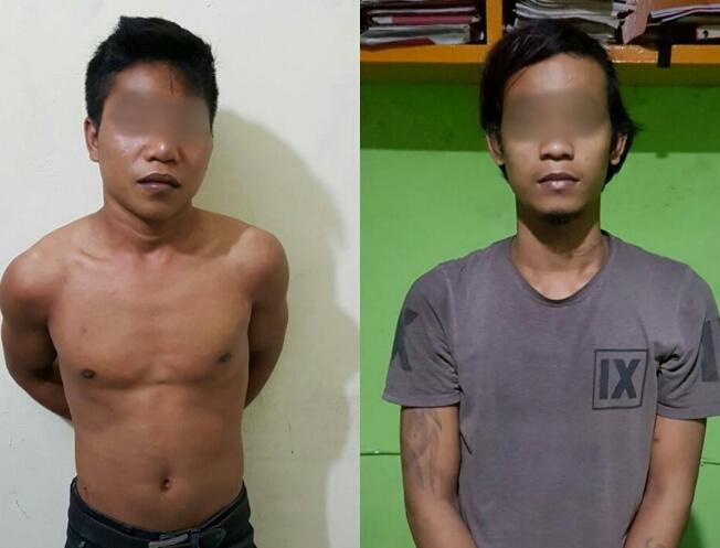 Hanya Berselang 1 Jam Setelah Beraksi, Dua Orang Begal di Tembilahan Diamankan Polisi