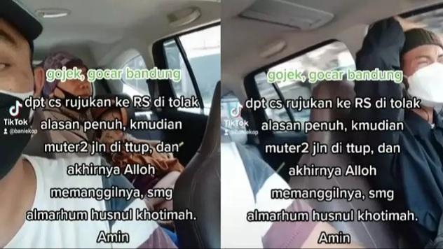 Kisah Malang Warga Yang Meninggal di Taksi Online Akibat Ditolak RS Karena Ruangan Penuh