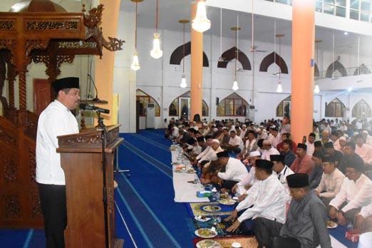 Bupati Bengkalis Amril Mukminin  Laksanakan Safari Ramadhan Perdana di Duri