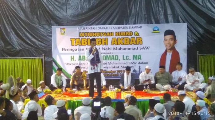 Ribuan Jamaah Padati Islamic Center Kampar
