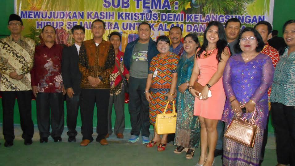 Bersama Muspida, Pj. Bupati Inhu dan Yopi Arianto Hadiri Oikumene