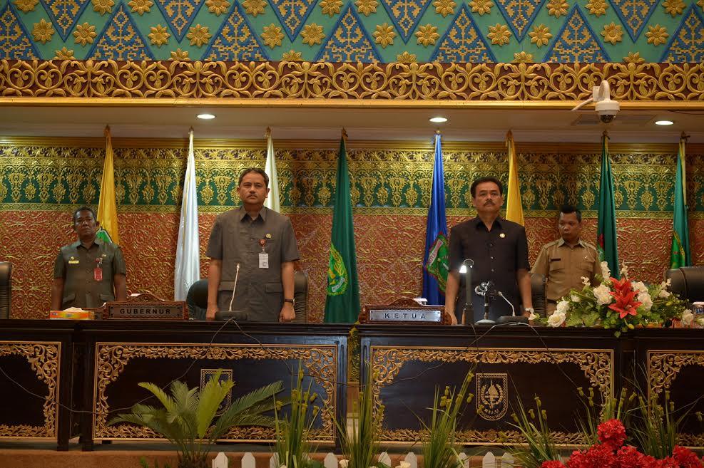 Sekda Prov Riau hadiri Paripurna DPRD Prov Riau