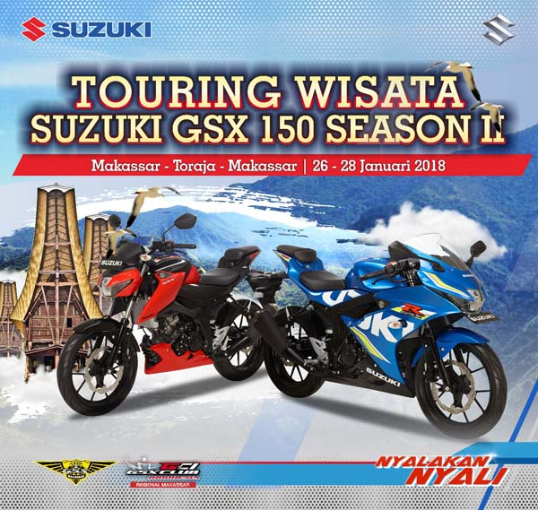 Komunitas Suzuki GSX 150 Akan Berwisata ke Toraja sambil Kampanyekan Safety Riding