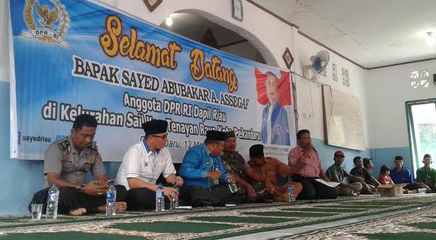 Sayed Abubakar DPR RI, Tampung Aspirasi