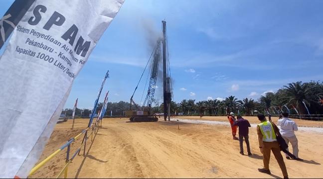 SPAM Lintas Kota Pekanbaru Kabupaten Kampar Dibangun di Desa Kualu, Begini Tanggapan Masyarakat