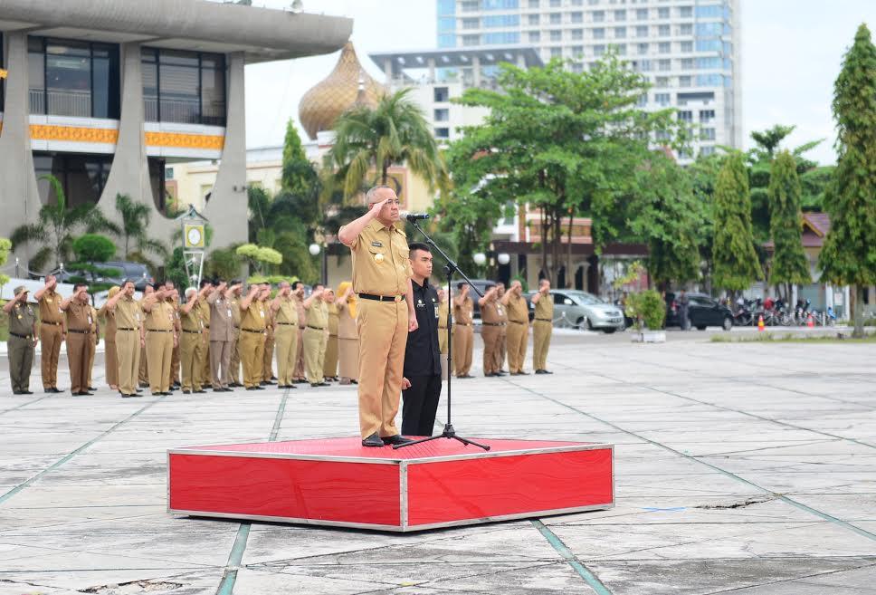 Gubri  Pimpin Apel Perdana 2017