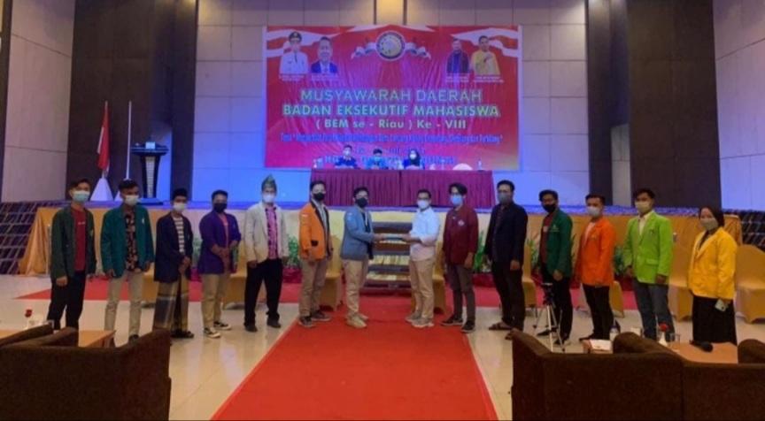 Dihadiri 57 Perguruan Tinggi, Yoga Saputra Terpilih sebagai Korpus BEM se-Riau