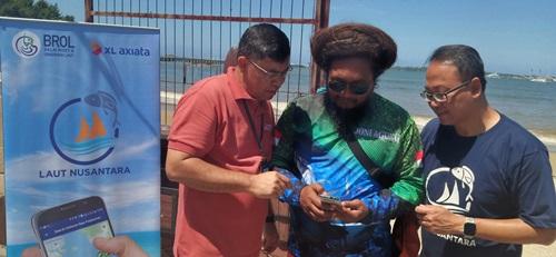Peringatan Hari Bumi  XL Axiata - KKP Bersihkan Pantai dan Sosialisasi Aplikasi Laut Nusantara