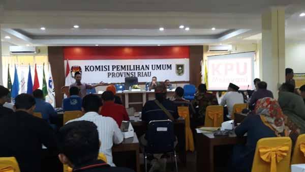 KPU Riau Ingatkan Peserta Pemilu Urus STTP