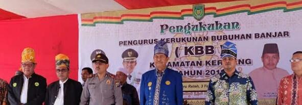 Wabup Inhil Kukuhkan Kepengurusan KBB Kecamatan Keritang