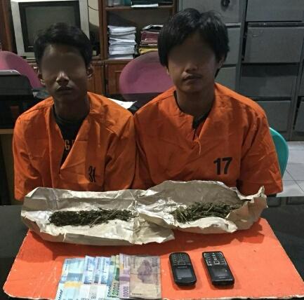 Tak Berkutik, 2 Pria di Inhil Diamankan Polisi Saat Akan Transaksi Barang Haram