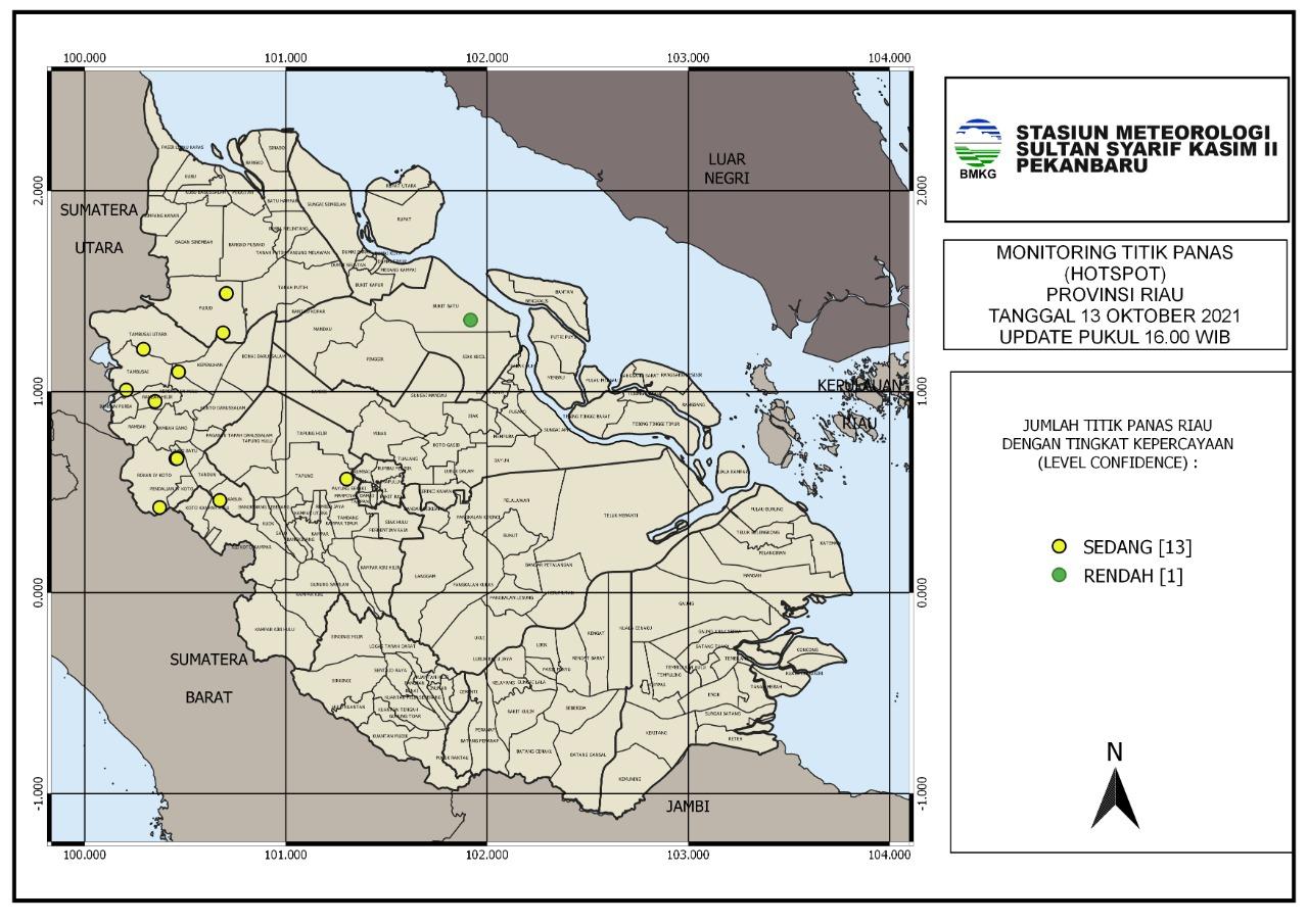 Sumatera Memanas, BMKG Catat 95 Titik Panas Sore Ini