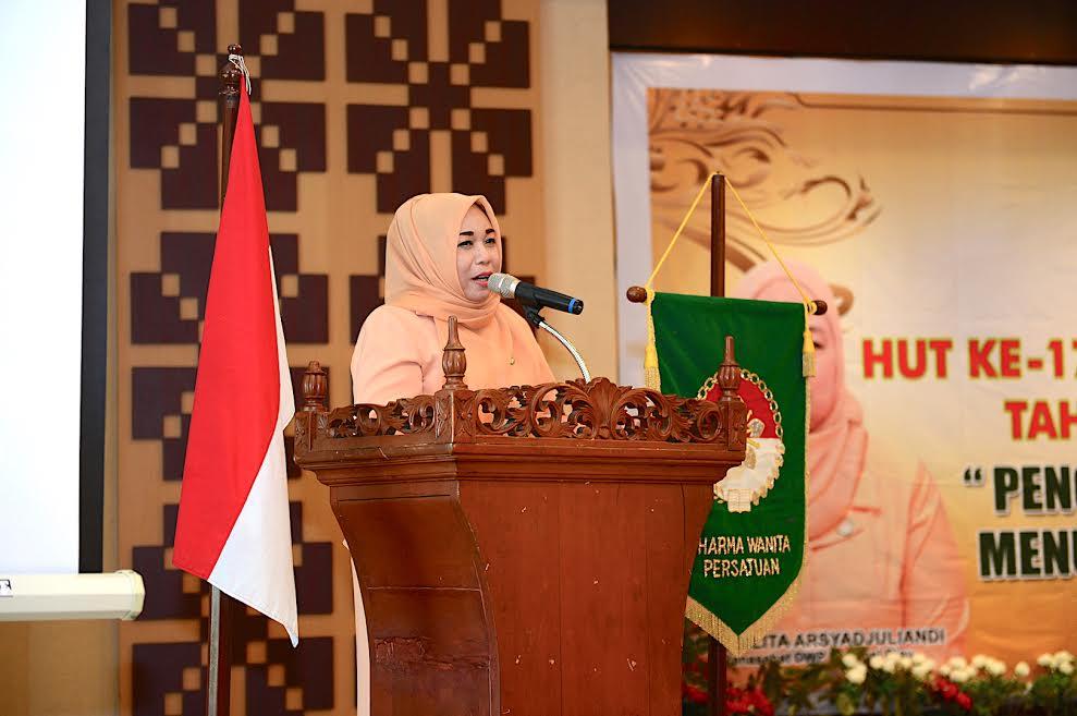 Peringatan Hut Ke 17 Dharma Wanita Persatuan Tahun 2016 Provinsi Riau
