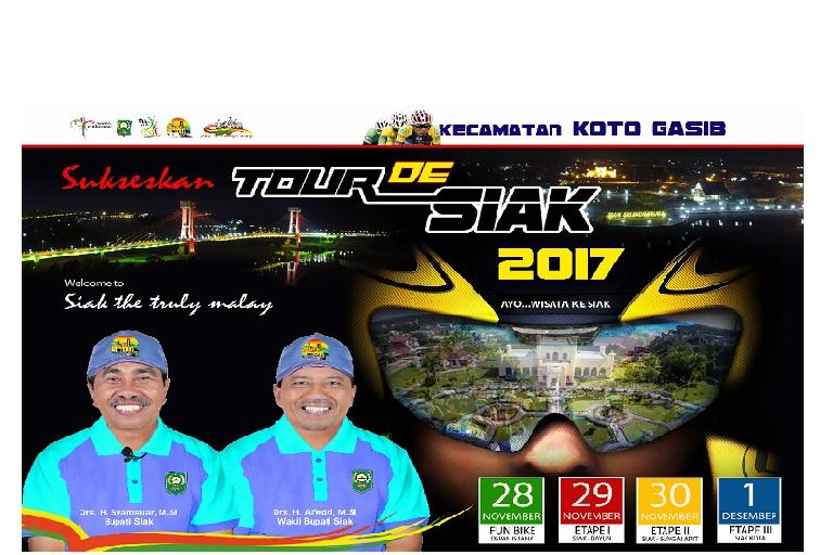 Tour The Siak, Tiga Jalan Etape Sudah Sempurna.
