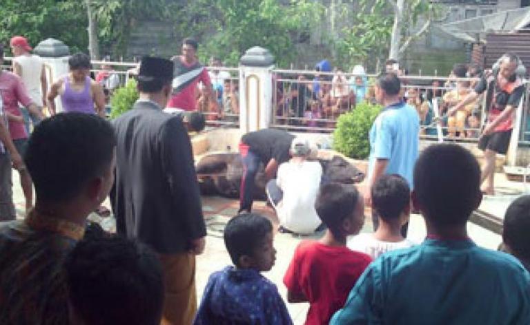 Usai Sholat Ied, Bupati Suyatno Jamu Warga dengan Open House