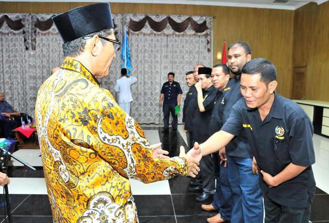 Pengurus PWI Inhu 2014-2017 Dikukuhkan